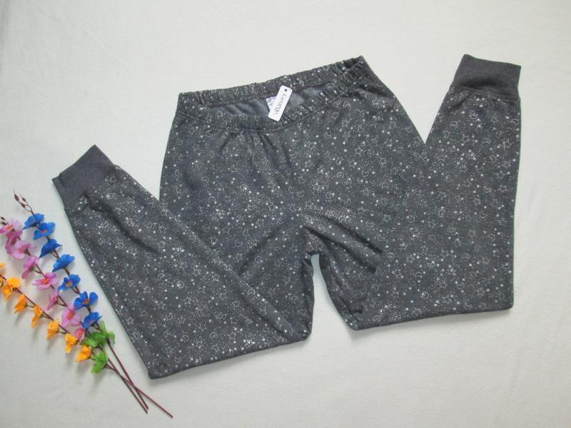 Трикотажные спортивные брюки принт звездное небо с начесом george - Фото 3