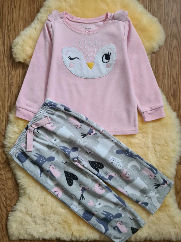 Флисовая пижама для девочки carter's 2-3 г 98 см флисовый спал...