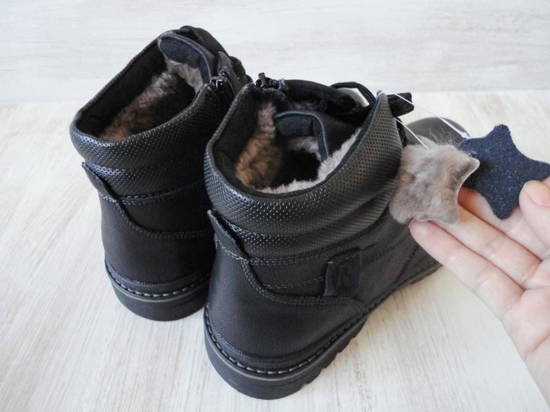 Зимние кожаные ботинки, на цигейке - Фото 2