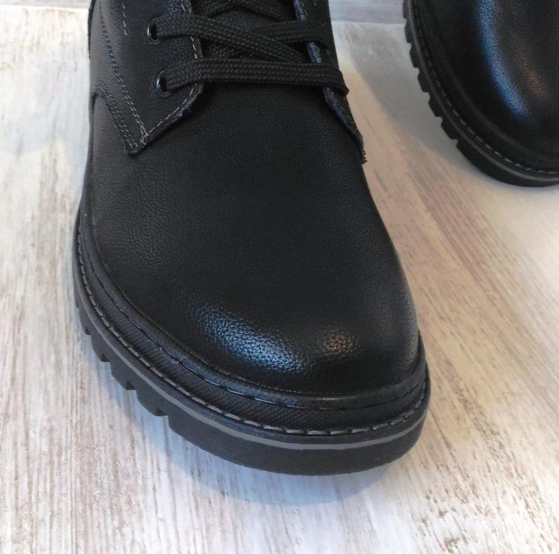 Зимние кожаные ботинки, на цигейке - Фото 3