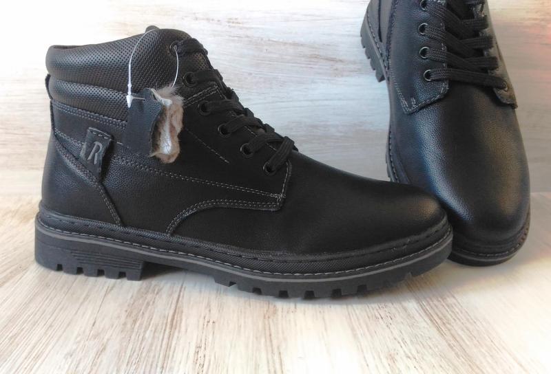 Зимние кожаные ботинки, на цигейке - Фото 5