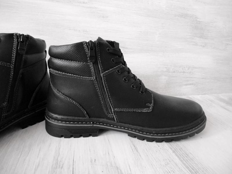 Зимние кожаные ботинки, на цигейке - Фото 7