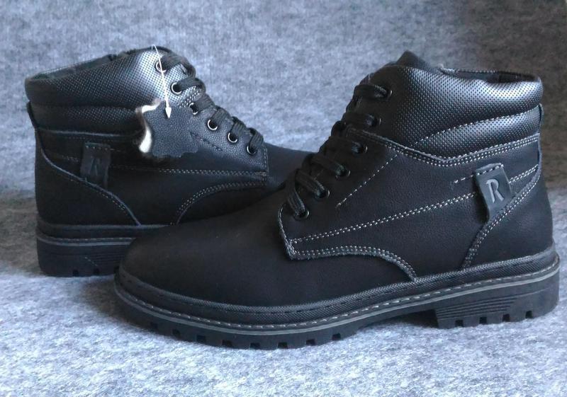 Зимние кожаные ботинки, на цигейке - Фото 8