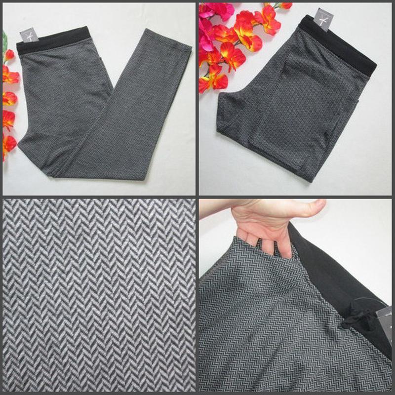 Шикарные трикотажные брюки принт зиг-заг большого размера высо... - Фото 4