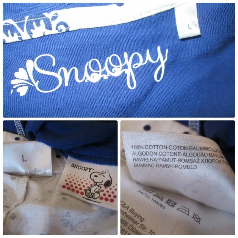 Пижама домашний костюм футболка + шорты снупи snoopy 100% котт... - Фото 4