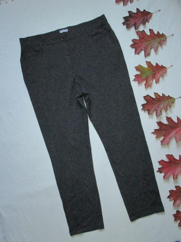 Суперовые стрейчевые плотные трикотажные брюки немецкого бренд...