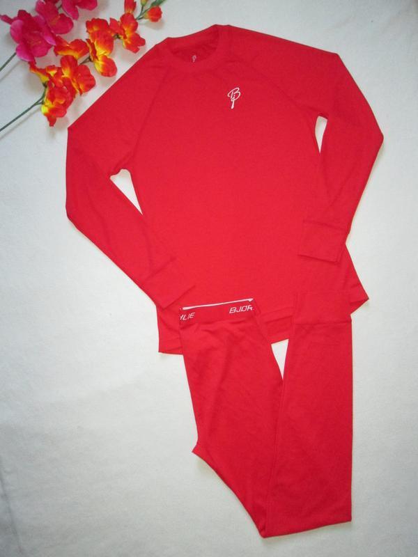 Яркий фирменный  спортивный термо костюм bjorn daehlie - Фото 2