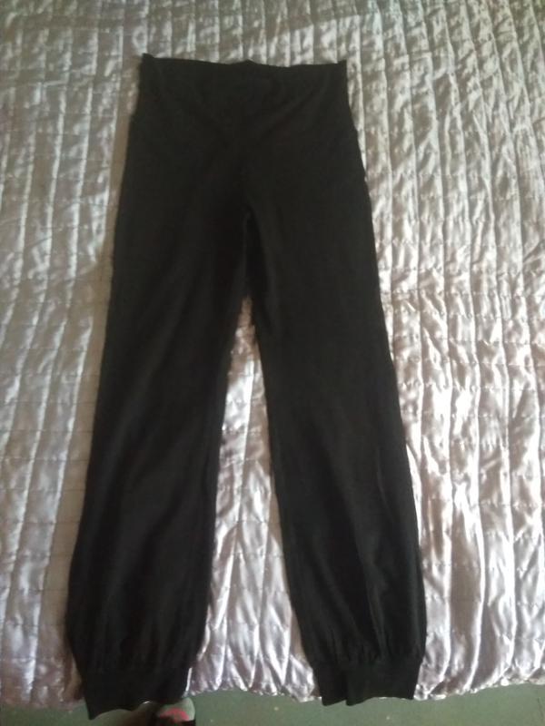 Спортивные трикотажные  штаны с высокой талией, на высокую жен...