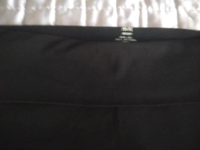 Спортивные трикотажные  штаны с высокой талией, на высокую жен... - Фото 3