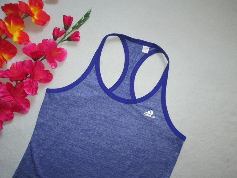 Меланжевая спортивная майка борцовка adidas оригинал. - Фото 2