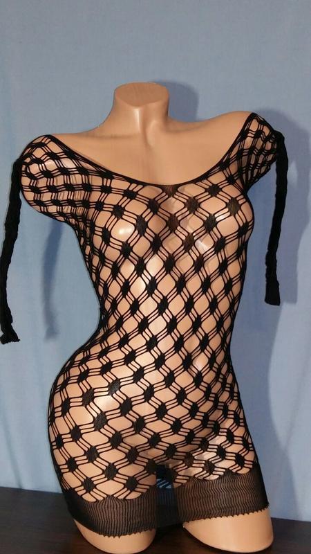 Платье-сетка - Фото 3