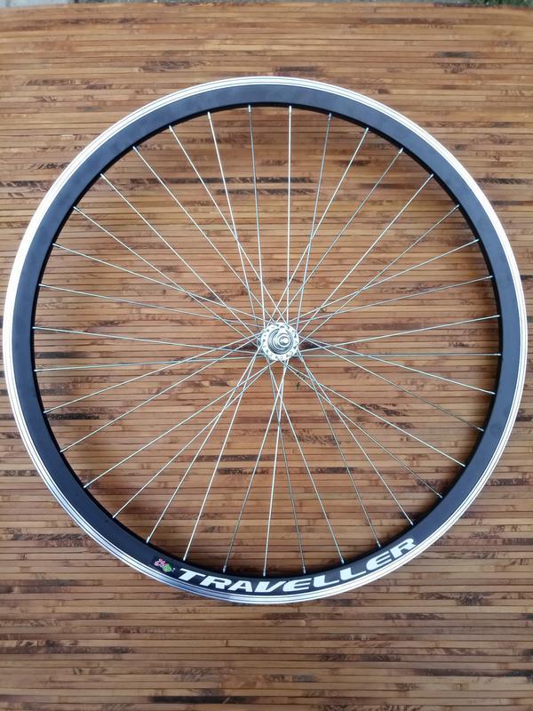 Колесо на велосипед 26 заднее усиленное на шариках