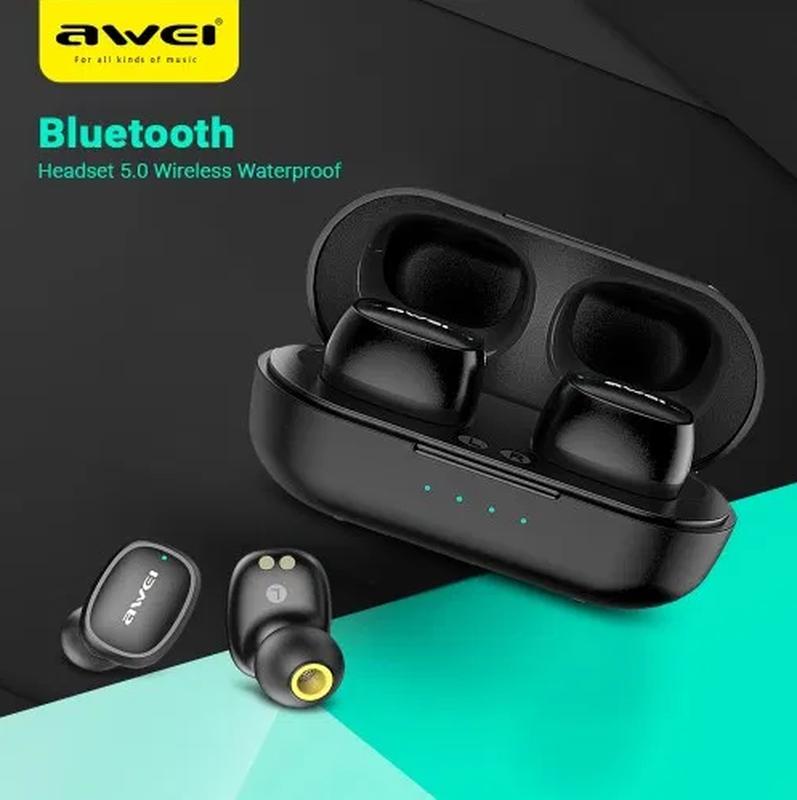 Беспроводные Bluetooth наушники Awei T13 Black