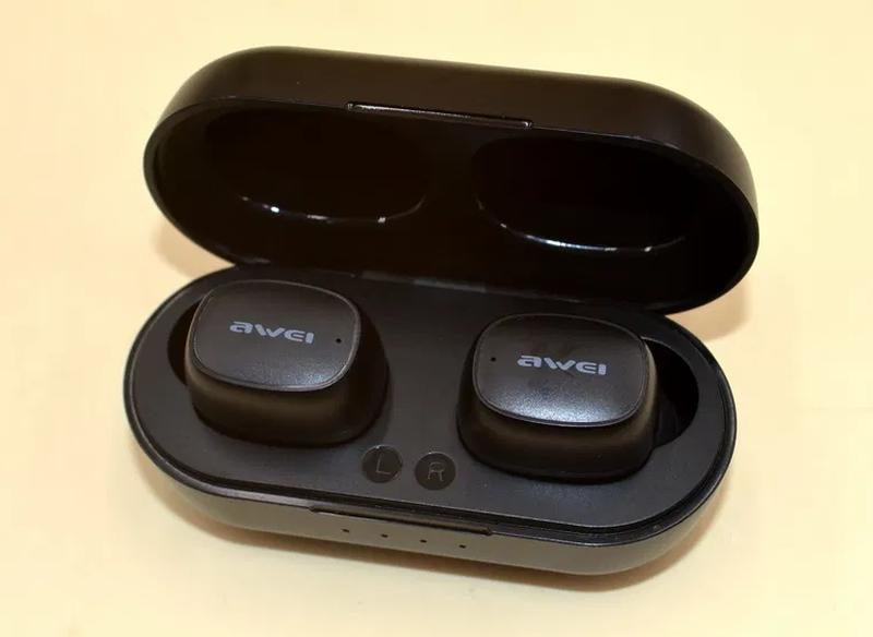 Беспроводные Bluetooth наушники Awei T13 Black - Фото 3