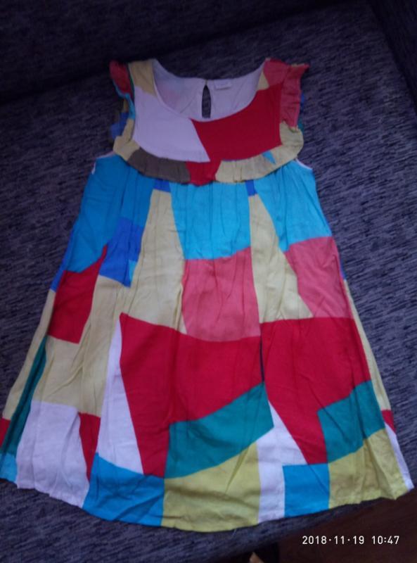 Супер красивое легчайшее платье next на 8 лет,