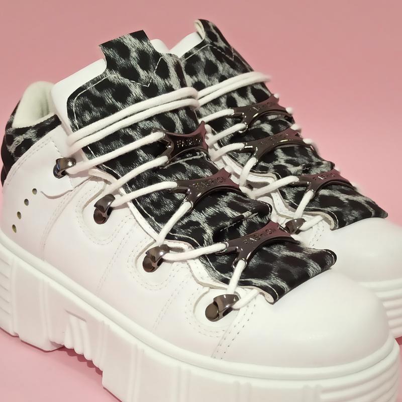 Ботинки полусапожки нью рок new rock белые высокие женские на ... - Фото 2