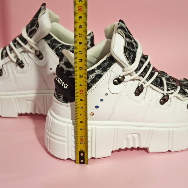Ботинки полусапожки нью рок new rock белые высокие женские на ... - Фото 5