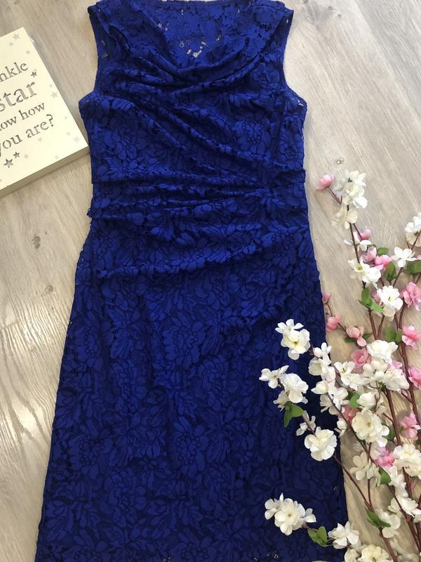 Красивое кружевное вечернее платье, платье футляр, гипюровое п... - Фото 2