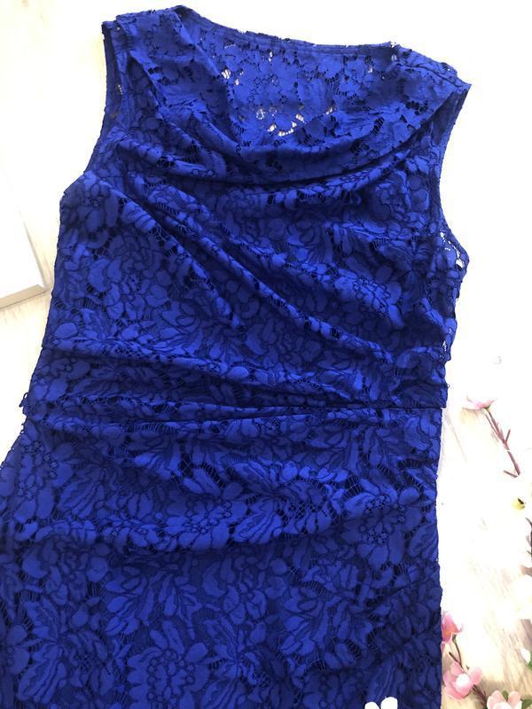 Красивое кружевное вечернее платье, платье футляр, гипюровое п... - Фото 4