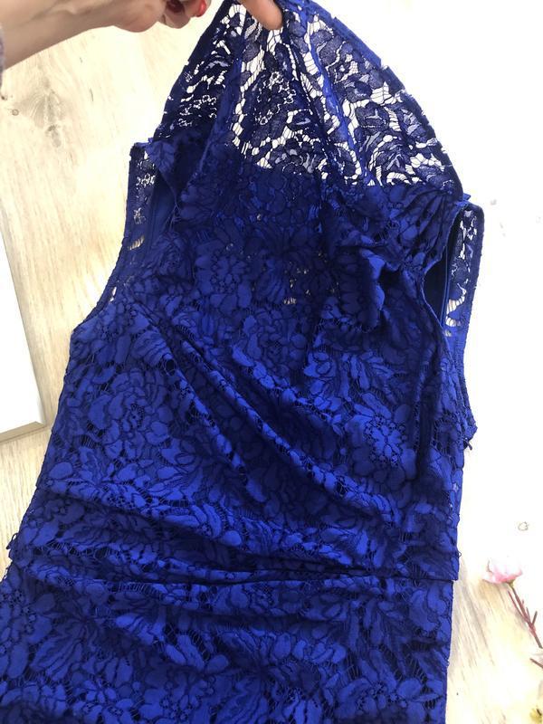 Красивое кружевное вечернее платье, платье футляр, гипюровое п... - Фото 5