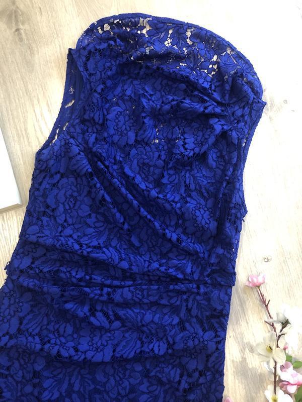 Красивое кружевное вечернее платье, платье футляр, гипюровое п... - Фото 6