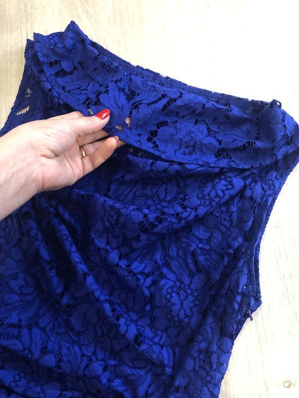 Красивое кружевное вечернее платье, платье футляр, гипюровое п... - Фото 7