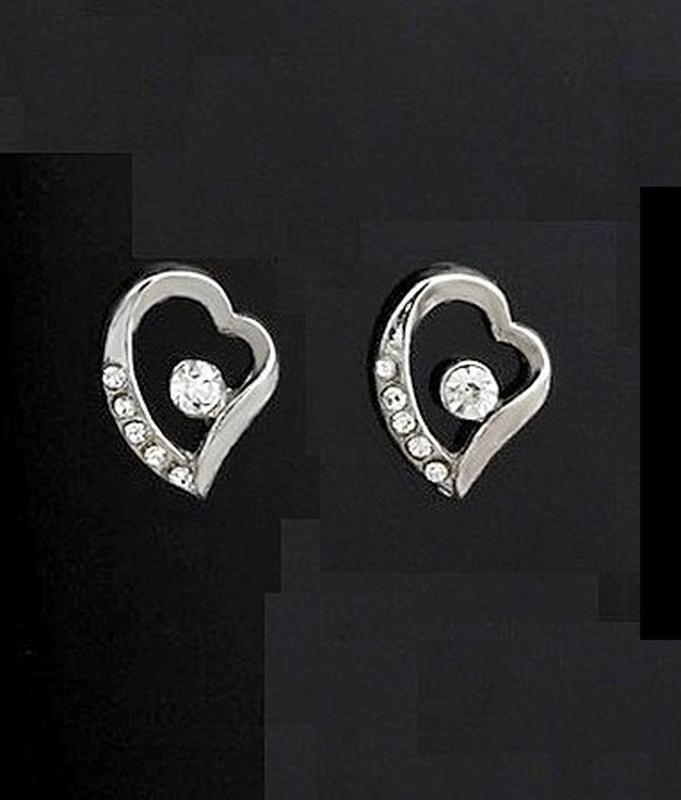 🏵ювелирный набор бижутерии - кулон на цепи и серьги сердце, но... - Фото 5