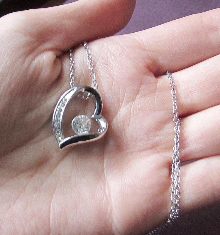 🏵ювелирный набор бижутерии - кулон на цепи и серьги сердце, но... - Фото 8