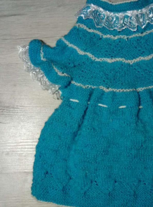 Вязаное платьице ручной работы - Фото 2