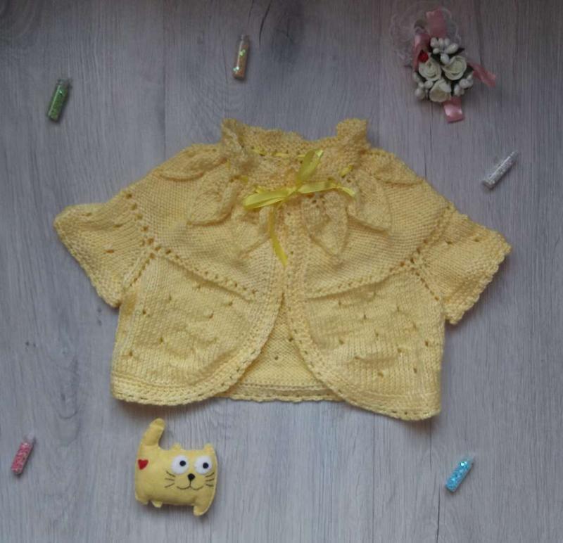 Болеро-распашонка ручной вязки - Фото 2
