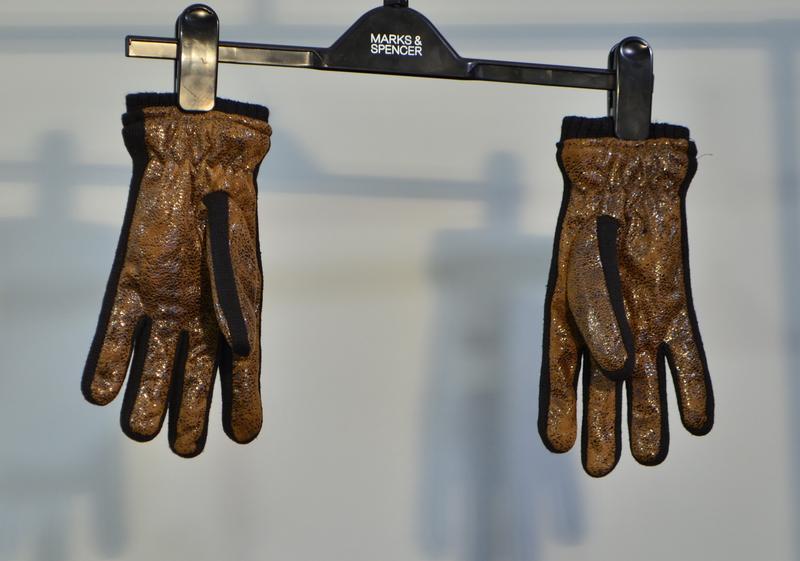2233\20 теплые коричневые перчатки - Фото 3