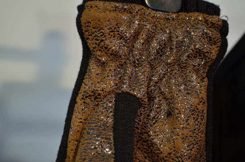 2233\20 теплые коричневые перчатки - Фото 4