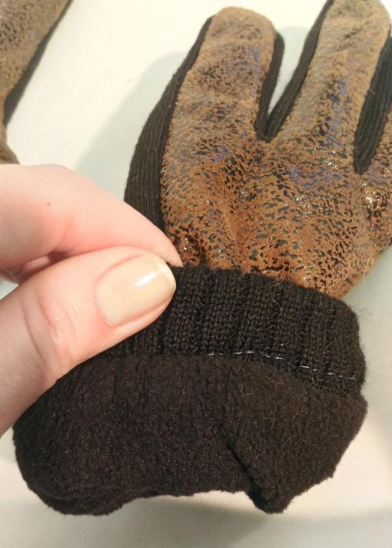 2233\20 теплые коричневые перчатки - Фото 5