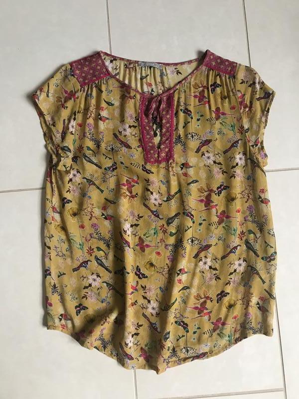 Блуза птички эксклюзив дорогой бренд nile размер s
