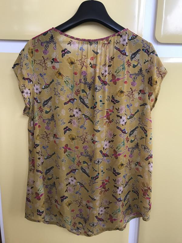Блуза птички эксклюзив дорогой бренд nile размер s - Фото 2