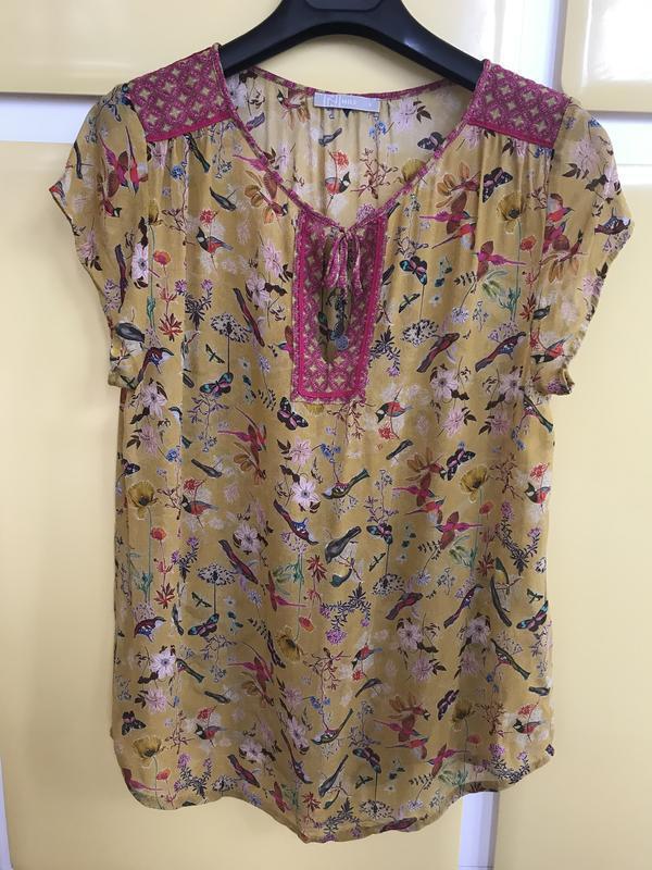 Блуза птички эксклюзив дорогой бренд nile размер s - Фото 3