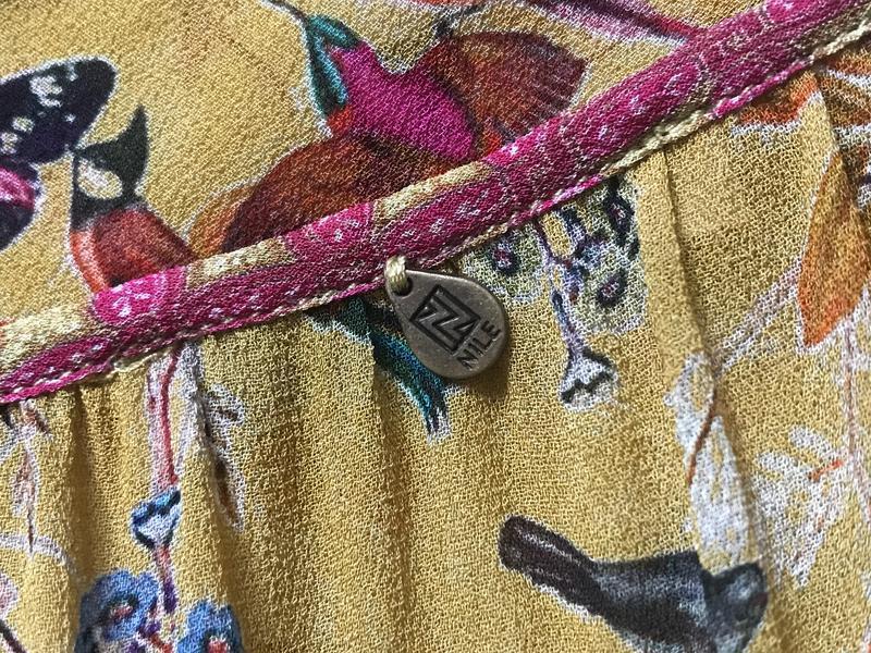 Блуза птички эксклюзив дорогой бренд nile размер s - Фото 7