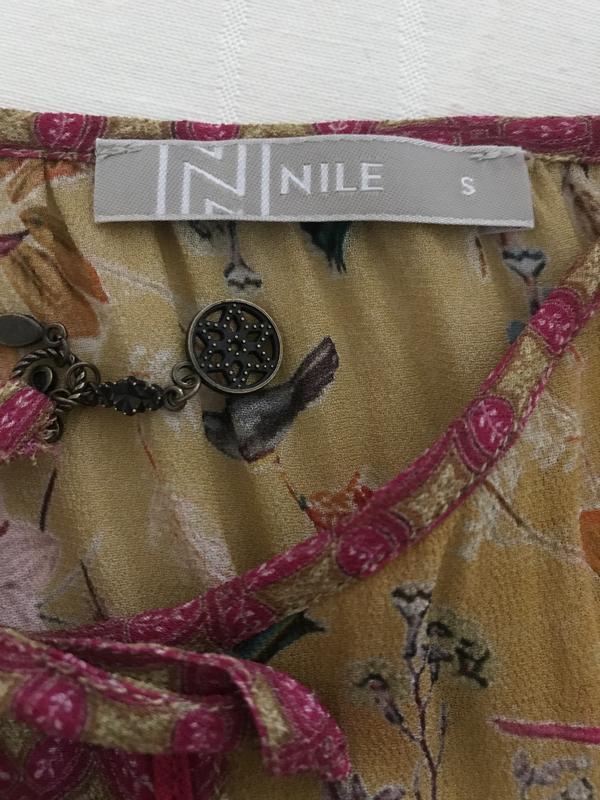 Блуза птички эксклюзив дорогой бренд nile размер s - Фото 10