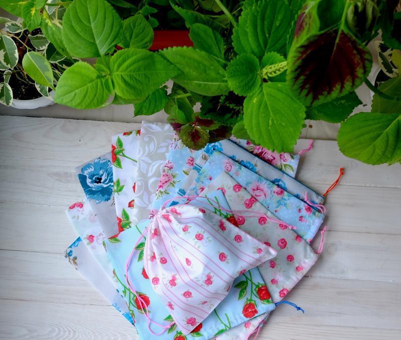 Эко мешочек ассорти, эко торбочка, мешочек для хранения, для п...