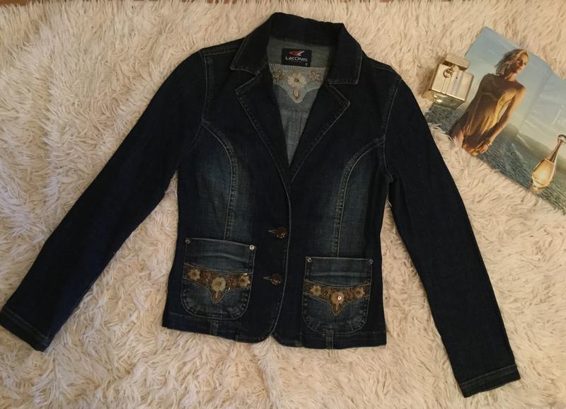 Скидка!!!джинсовая куртка. джинсовый пиджак,жакет. likom`s jeans