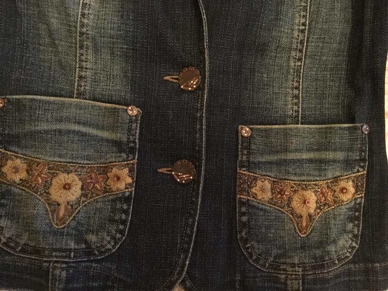Скидка!!!джинсовая куртка. джинсовый пиджак,жакет. likom`s jeans - Фото 2