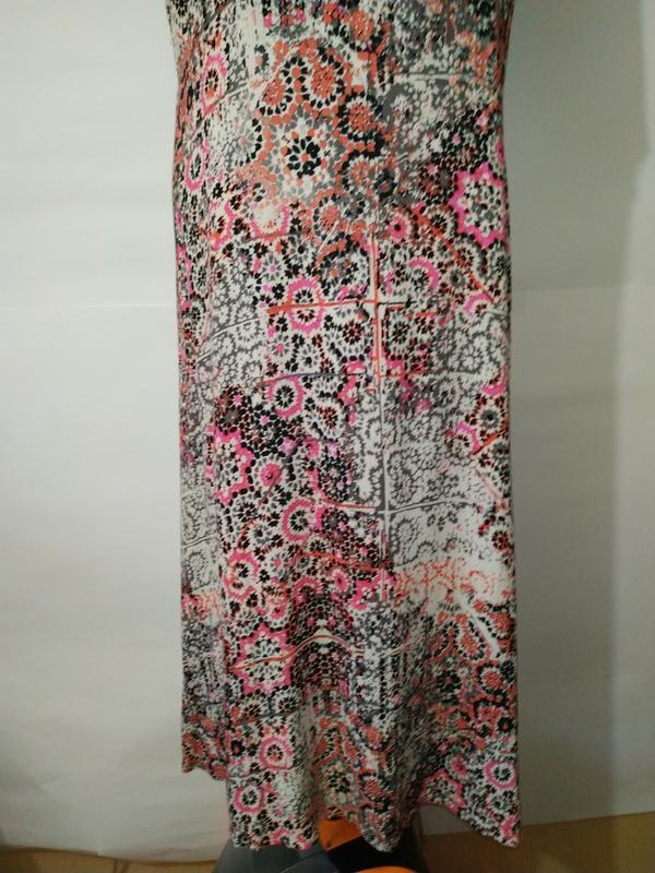 Платье миди натуральное жатка в орнамент uk 16/44/xl - Фото 4