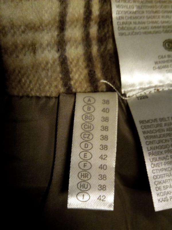 Брендовая, шерстяная юбка. - Фото 4