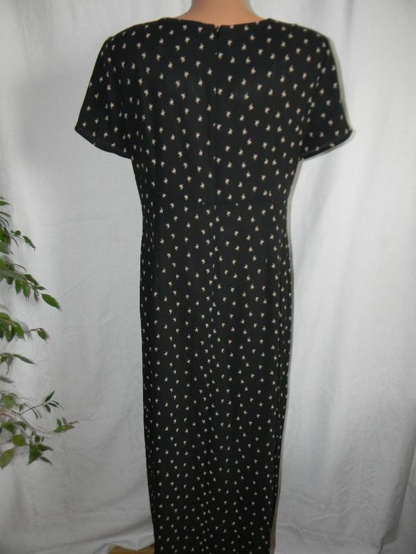 Платье на запах принтом - Фото 3