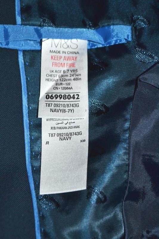 Пиджак школьный marks&spencer р.6-7 лет 116-122 см - Фото 8