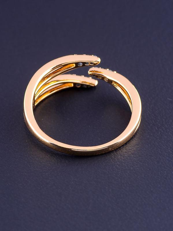 Кольцо 'xuping' фианит (позолота 18к) 0876840 - Фото 2