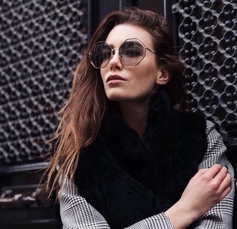 Женские солнцезащитные очки оверсайз chloe