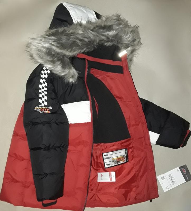 Супер крутая фирменная стеганая куртка для мальчика 98 см - Фото 2