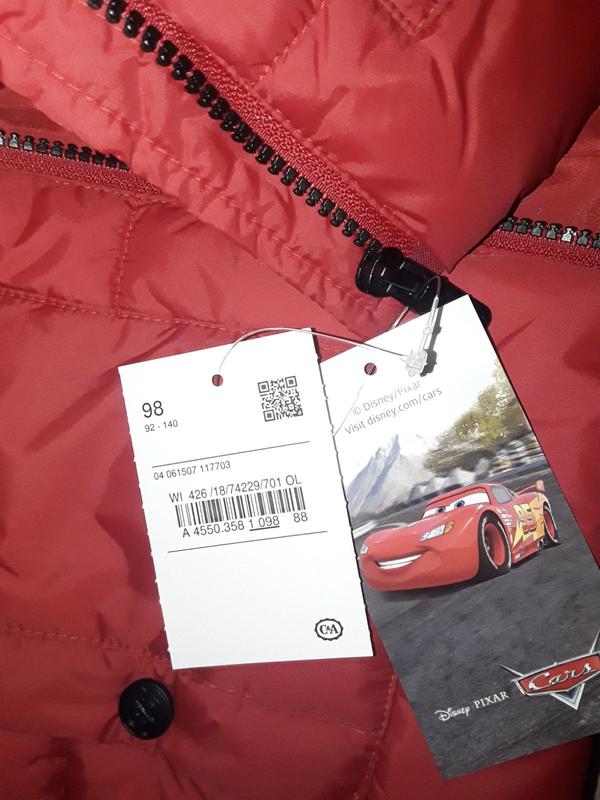 Супер крутая фирменная стеганая куртка для мальчика 98 см - Фото 6