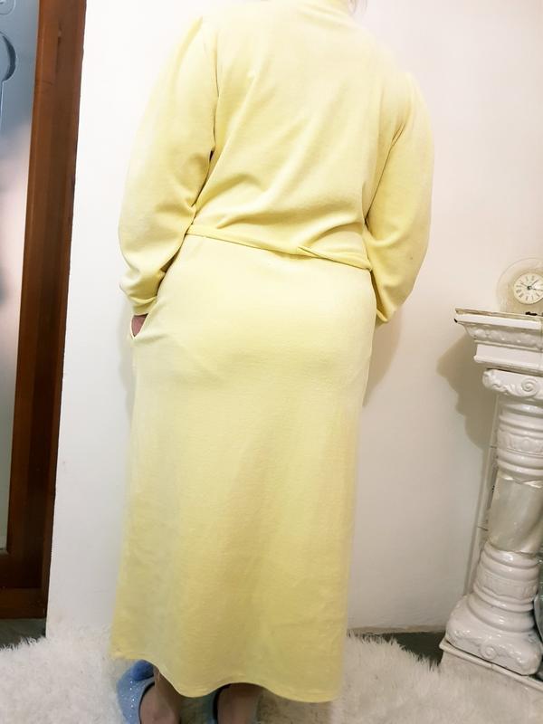 Велюровый халат - Фото 3
